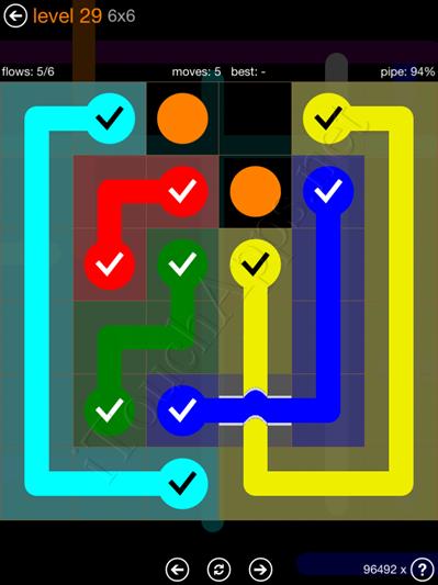 Flow Bridges Pack 6 x 6 Level 29 Solution