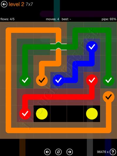 Flow Bridges Pack 7 x 7 Level 2 Solution