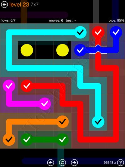 Flow Bridges Pack 7 x 7 Level 23 Solution
