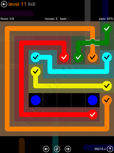 Flow Bridges Pack 8 x 8 Level 11 Solution