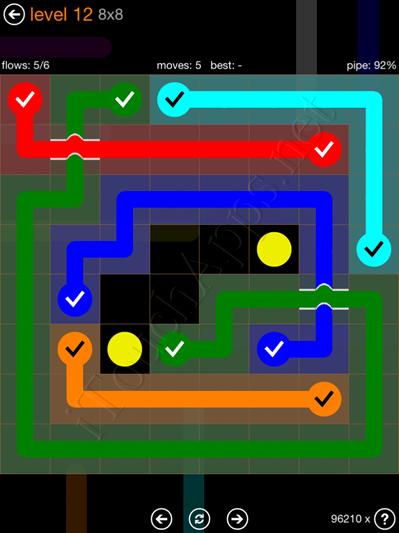 Flow Bridges Pack 8 x 8 Level 12 Solution