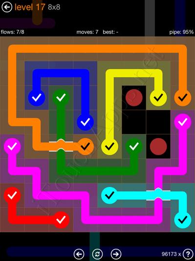 Flow Bridges Pack 8 x 8 Level 17 Solution