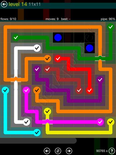 Flow Bridges Yellow Pack 11x11 Level 14 Solution