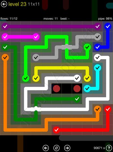 Flow Bridges Yellow Pack 11x11 Level 23 Solution