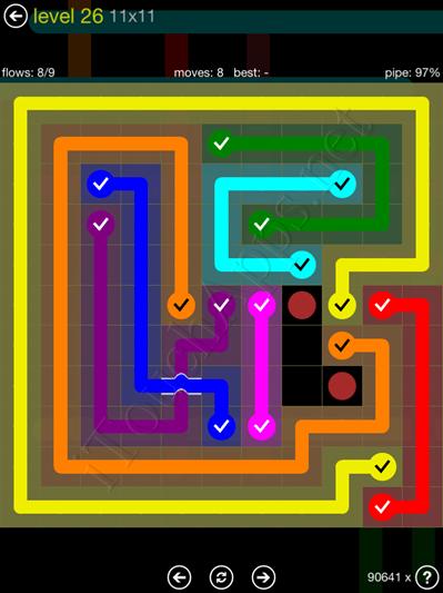 Flow Bridges Yellow Pack 11x11 Level 26 Solution