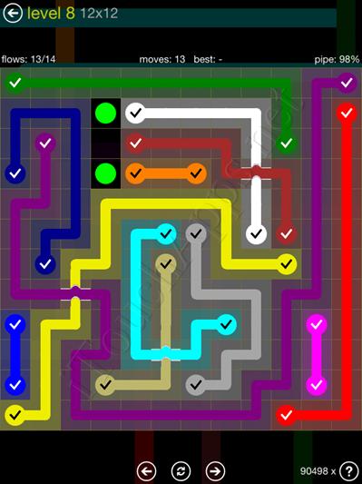 Flow Bridges Yellow Pack 12x12 Level 8 Solution