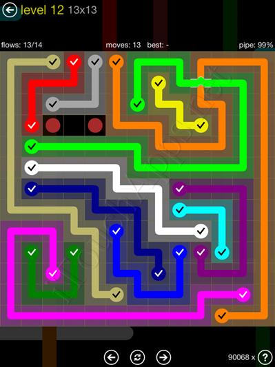 Flow Bridges Yellow Pack 13x13 Level 12 Solution