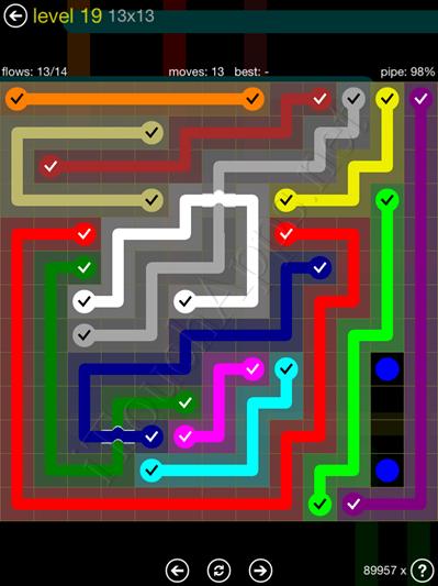 Flow Bridges Yellow Pack 13x13 Level 19 Solution