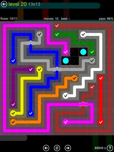 Flow Bridges Yellow Pack 13x13 Level 20 Solution