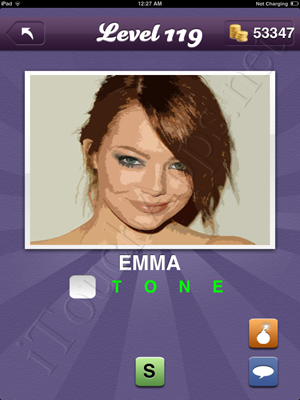 Guess the Celeb Level 119 Answer