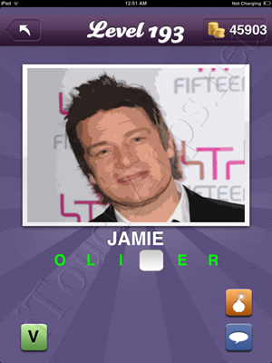 Guess the Celeb Level 193 Answer