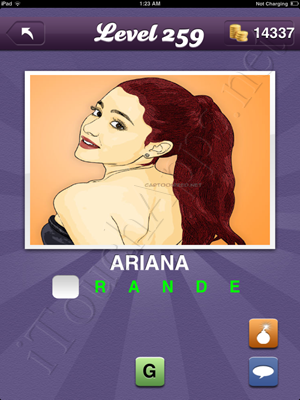 Guess the Celeb Level 259 Answer