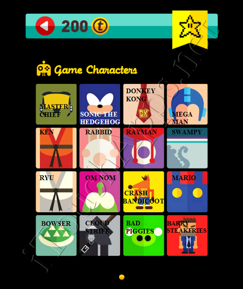 Icon Pop Quiz Game Weekend Specials Game Characters Answers / Solutions