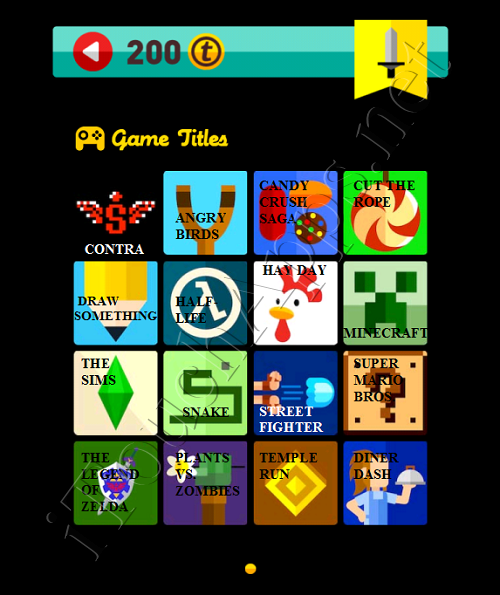 Icon Pop Quiz Game Weekend Specials Game Titles Answers / Solutions