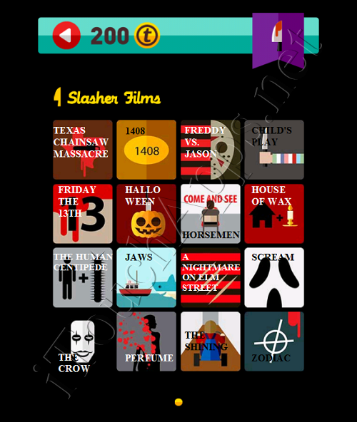 Icon Pop Quiz Game Weekend Specials Slasher Films Answers / Solutions