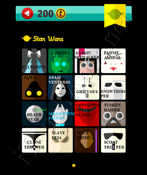 Icon Pop Quiz Game Weekend Specials Star Wars Answers / Solutions