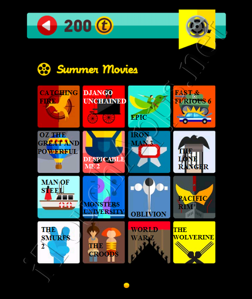 Icon Pop Quiz Game Weekend Specials Summer Movies Answers / Solutions