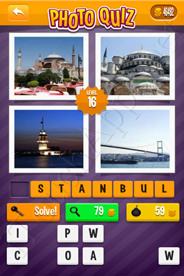 Photo Quiz Cities Pack Level 16 Solution