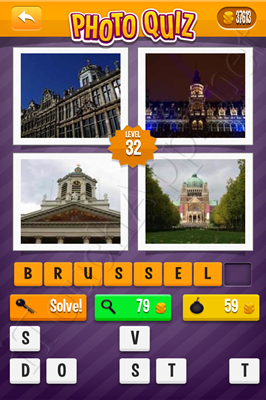Photo Quiz Cities Pack Level 32 Solution