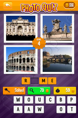 Photo Quiz Cities Pack Level 4 Solution