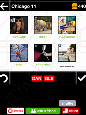 Pics & Pieces Chicago Pack Level 11 Answer