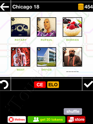 Pics & Pieces Chicago Pack Level 18 Answer