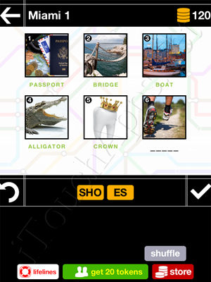 Pics & Pieces Miami Pack Level 1 Answer