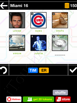 Pics & Pieces Miami Pack Level 16 Answer