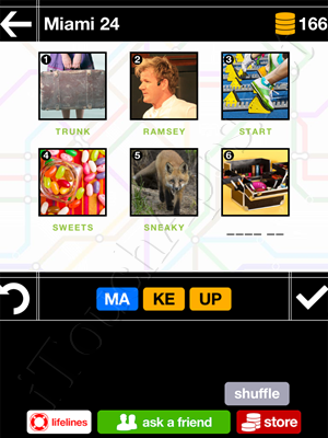 Pics & Pieces Miami Pack Level 24 Answer
