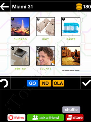 Pics & Pieces Miami Pack Level 31 Answer