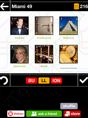 Pics & Pieces Miami Pack Level 49 Answer