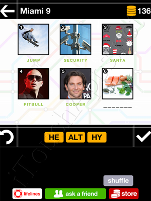 Pics & Pieces Miami Pack Level 9 Answer