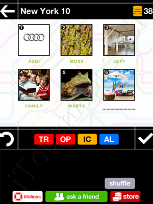 Pics & Pieces New York Pack Level 10 Answer