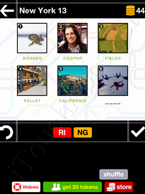 Pics & Pieces New York Pack Level 13 Answer