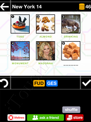 Pics & Pieces New York Pack Level 14 Answer