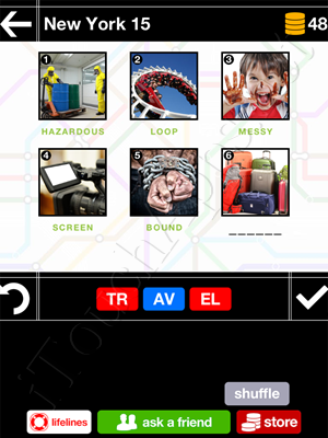 Pics & Pieces New York Pack Level 15 Answer