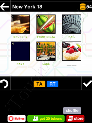 Pics & Pieces New York Pack Level 18 Answer
