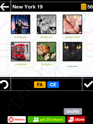 Pics & Pieces New York Pack Level 19 Answer