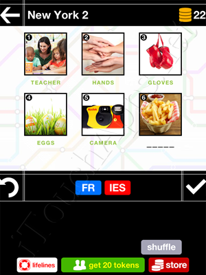 Pics & Pieces New York Pack Level 2 Answer