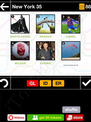 Pics & Pieces New York Pack Level 35 Answer