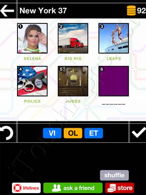 Pics & Pieces New York Pack Level 37 Answer