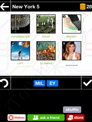 Pics & Pieces New York Pack Level 5 Answer
