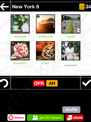 Pics & Pieces New York Pack Level 8 Answer