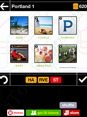 Pics & Pieces Portland Pack Level 1 Answer