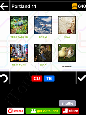 Pics & Pieces Portland Pack Level 11 Answer