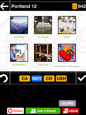 Pics & Pieces Portland Pack Level 12 Answer