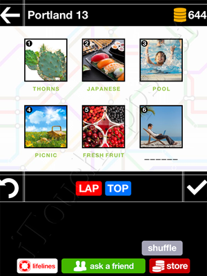 Pics & Pieces Portland Pack Level 13 Answer