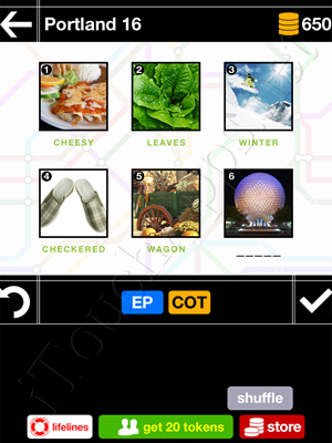 Pics & Pieces Portland Pack Level 16 Answer