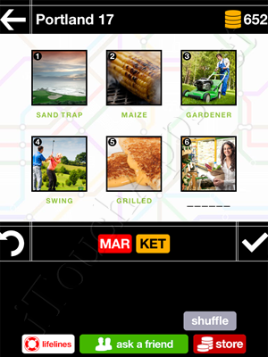 Pics & Pieces Portland Pack Level 17 Answer