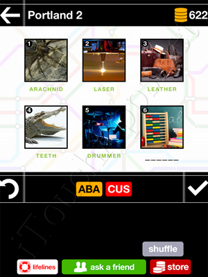 Pics & Pieces Portland Pack Level 2 Answer